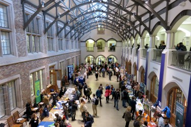 The UW Environmental Career Fair at Mary Gates Hall.