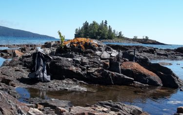"""This is a 1.9-billion-year-old stromatolite — or mound made by microbes that lived in shallow water — called the Gunflint Formation in northern Minnesota. The environment of the oxygen """"overshoot"""" described in research by Michael Kipp, Eva Stüeken and Roger Buick may have included this sort of oxygen-rich setting that is suitable for complex life."""