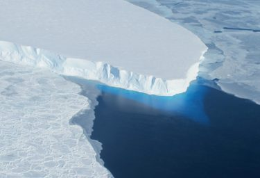 Part of the Thwaites Glacier on the edge of West Antarctica.