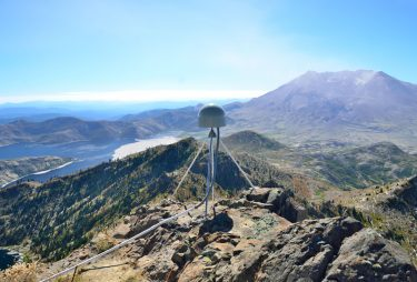 A GPS station near Mount St. Helens in September 2014.