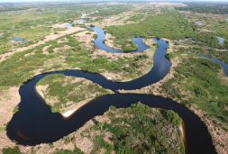 The Kissimmee River in central Florida. This ecosystem-scale restoration project began two decades ago and is used as an example in the study.