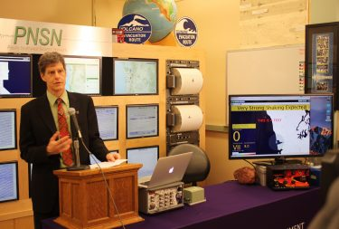 University of Washington Professor John Vidale at the ShakeAlert earthquake early warning event on April 10, 2017.