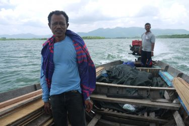 Small-scale fishers in Thailand heading offshore in search of fish.