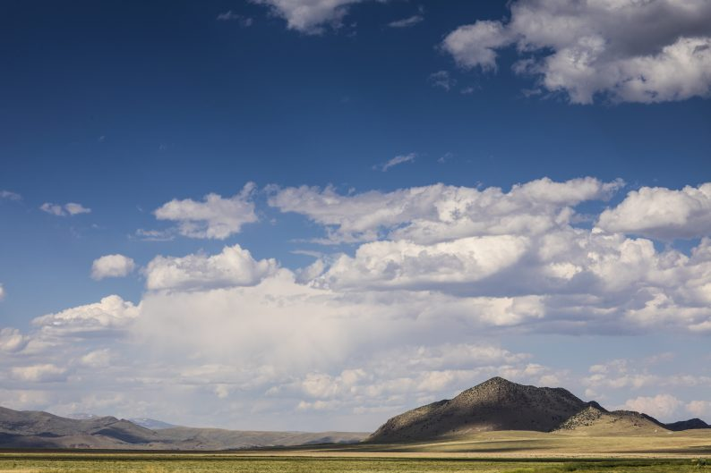 Wide expanse of grass and hills