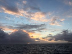 Clouds observed over the Southern Ocean during the campaign, which is taking place in the Southern Hemisphere summer.