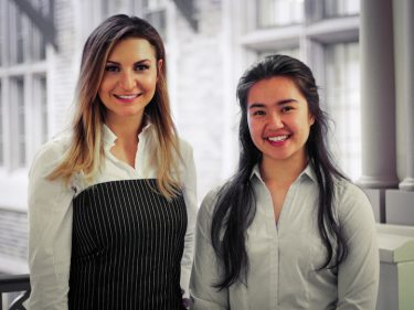 Udall scholars Ashley Lewis (left) and Alishia Orloff (right).