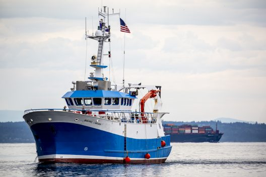 The RV Rachel Carson is a 72-foot vessel built for fisheries research in Scotland. It will carry UW students and researchers on regional trips out to sea.
