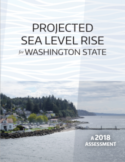 Report cover: Projected Sea Level Rise for Washington State