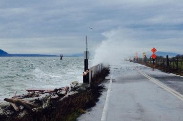 Lummi Island storm waves