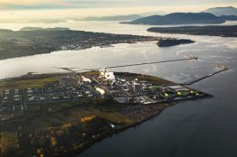 Arial view of a refinery near Anacortes.