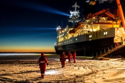 The Polarstern in Antarctica in 2013, on a previous expedition.